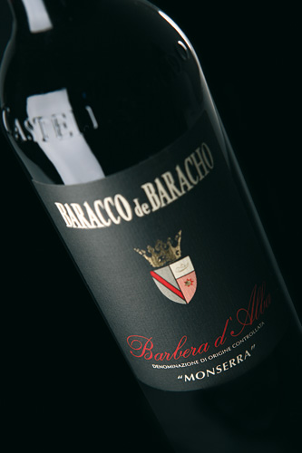 Barbera d'Alba Monserra label